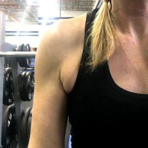 Lose armpit fat
