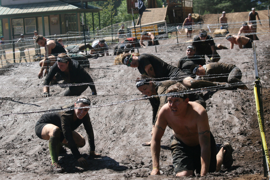 Spartan Race Portland Barbed Wire Crawl