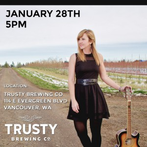 Dawna Stafford Music Poster Trusty Brewing 01-28-17